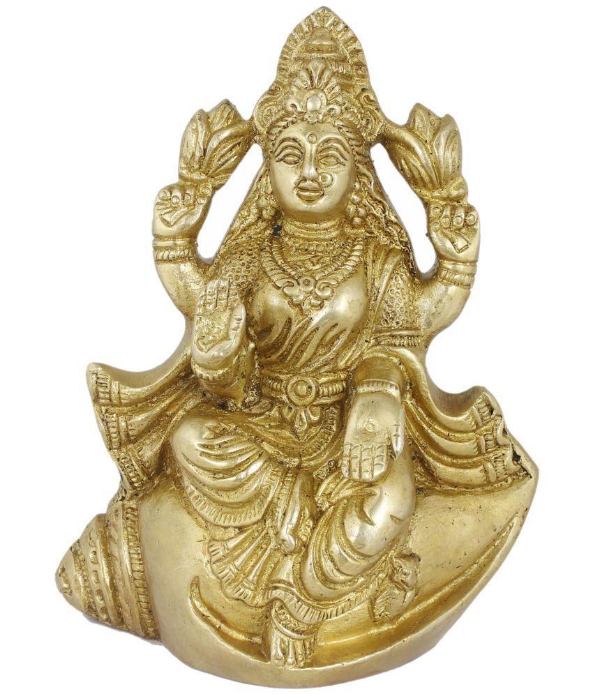 RoyaltyLane Laxmi Brass Idol