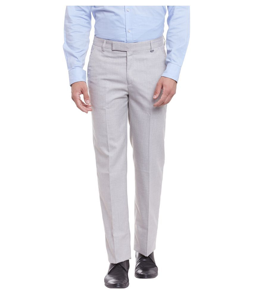 Canary London Beige Tapered Flat Trouser