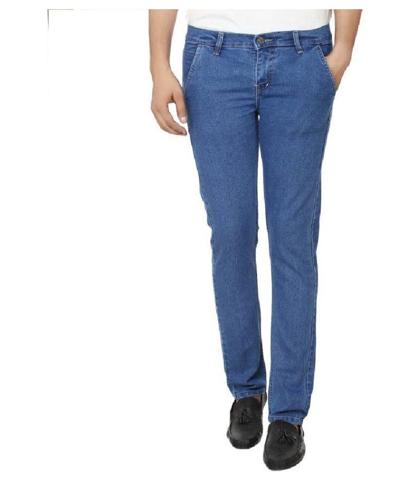 IBS Blue Regular Fit Basic Jeans