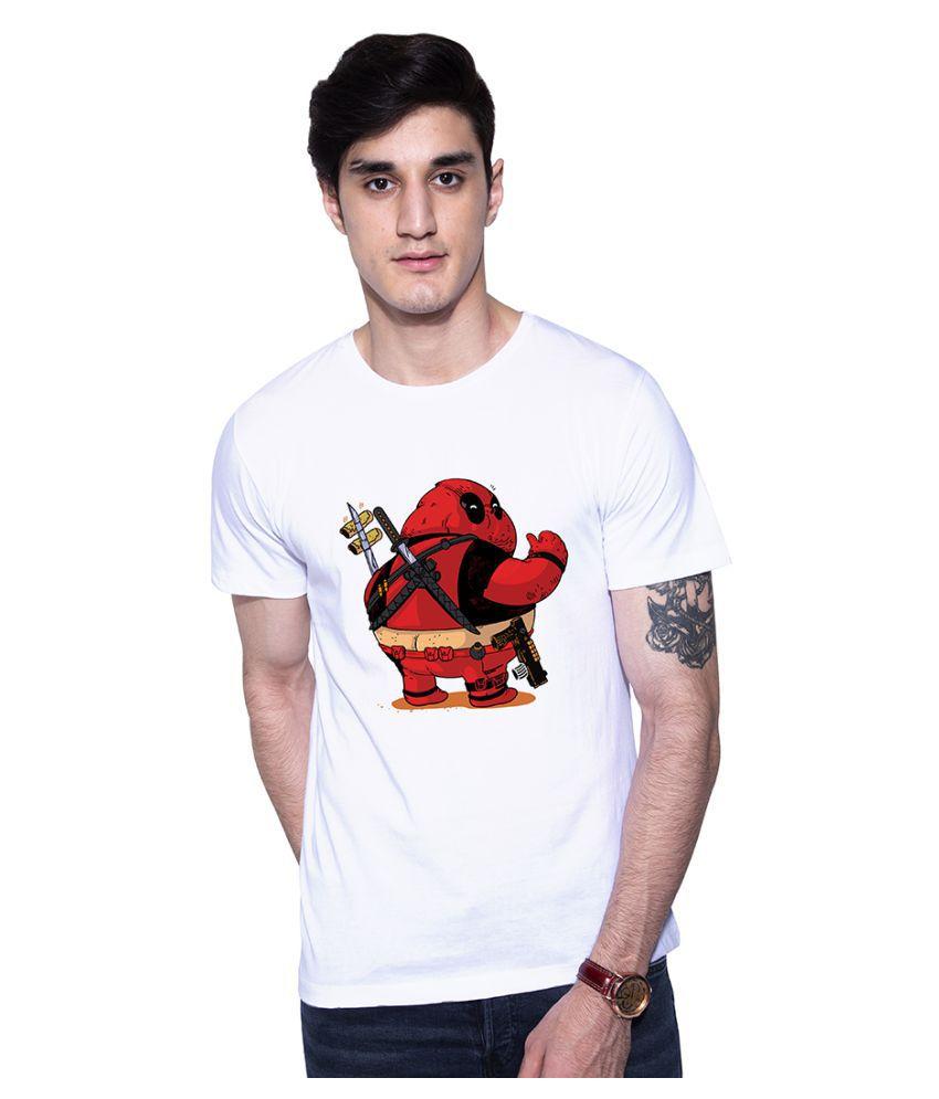 Uptown18 White Round T-Shirt