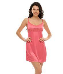 Miss Clyra Pink Satin Nighty & Night Gowns