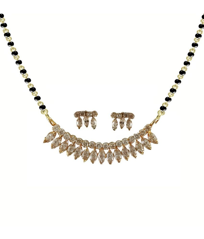 Rejewel Golden Aolly Mangalsutra Set Chain