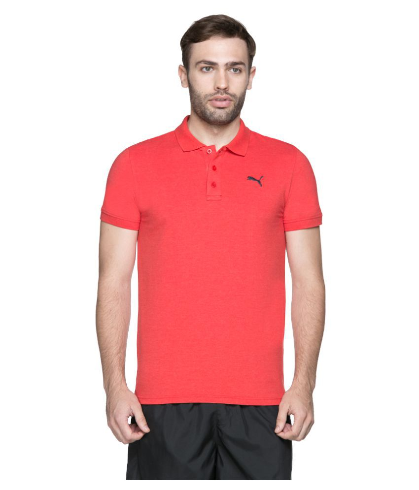 Puma Red Slim Fit Polo T Shirt