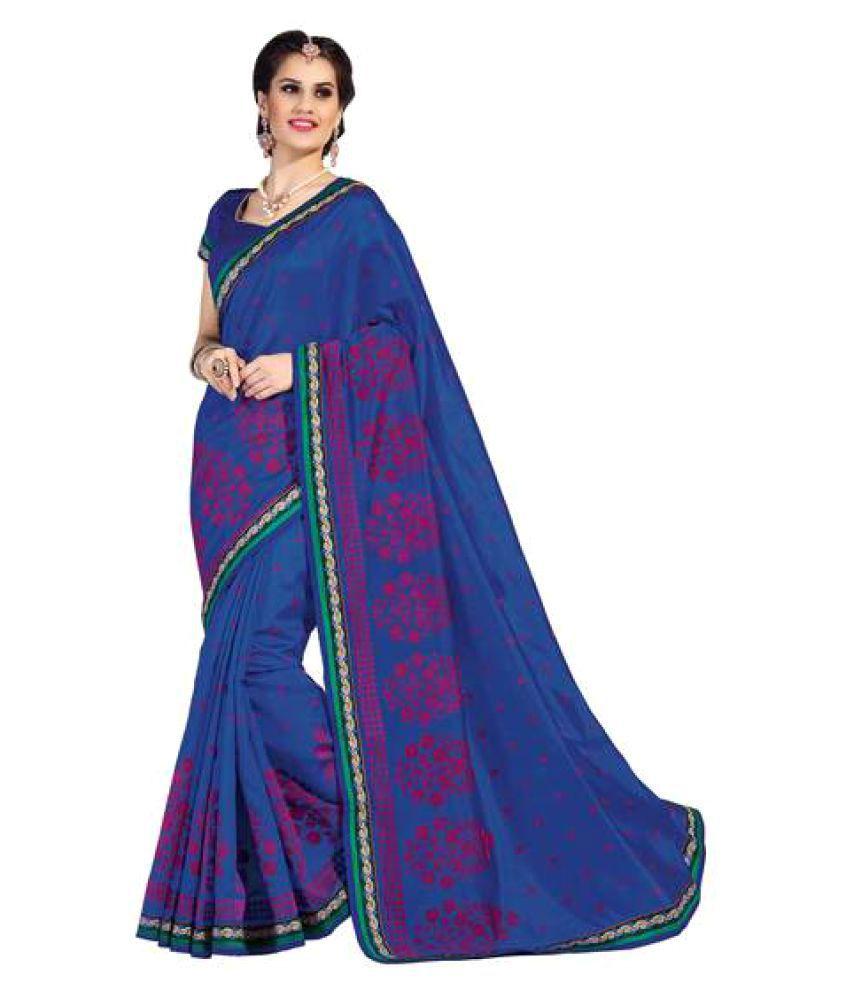 Rajshri Fashions Navy Silk Saree