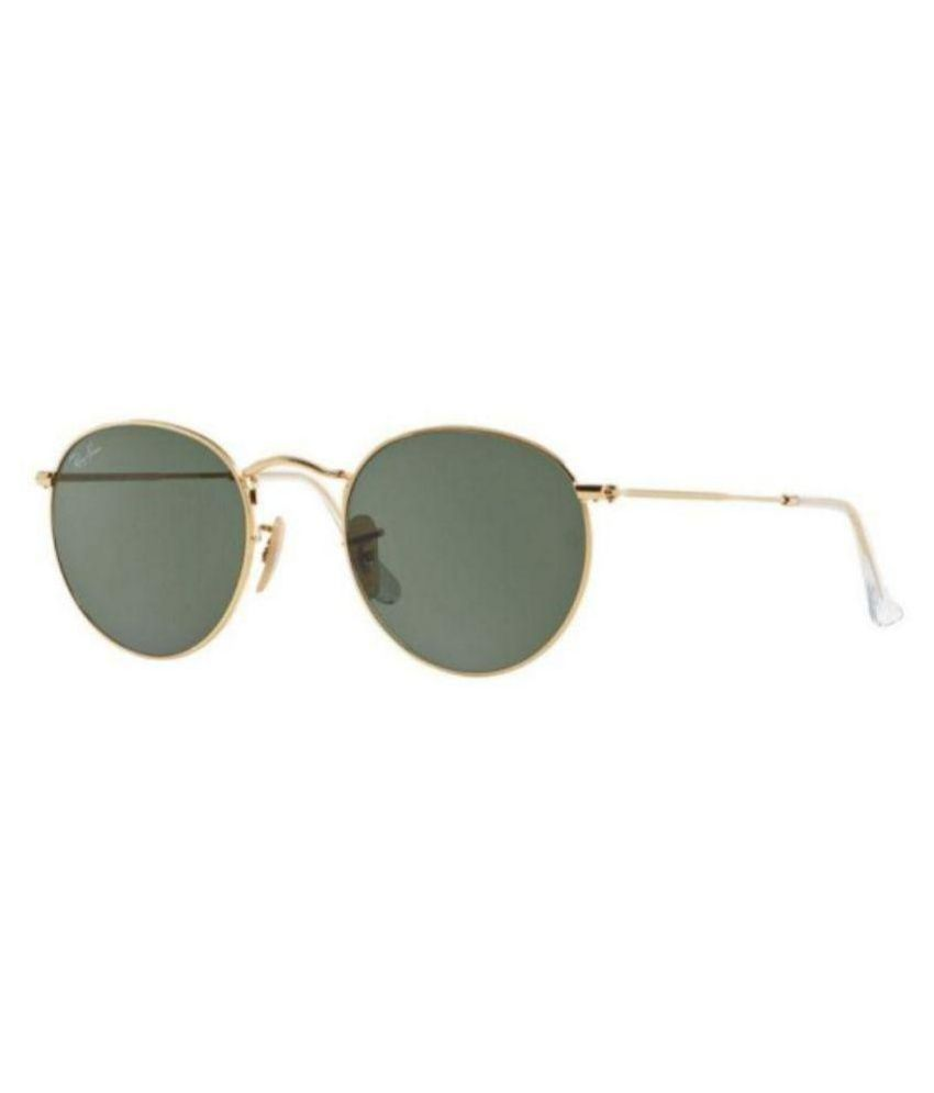 cfcf3756b21 Ray-Ban Green Round Sunglasses ( RB3447 001 50-21 ) - Buy Ray-Ban Green  Round Sunglasses ( RB3447 001 50-21 ) Online at Low Price - Snapdeal