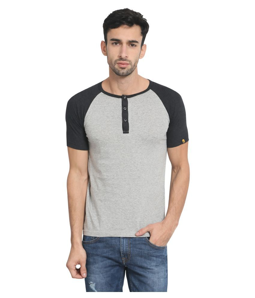 Zsolt Grey Henley T-Shirt