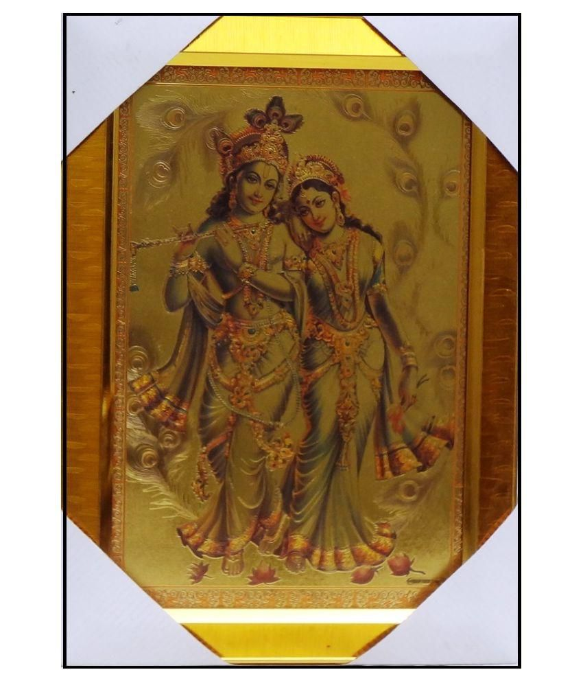 AMAZING COLLECTIONS Radha Krishna Acrylic Art Prints With Frame Single Piece