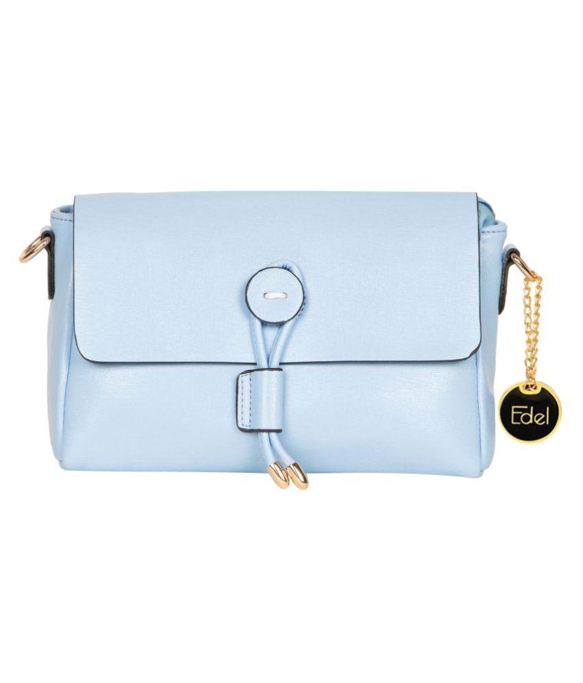 Edel Blue P.U. Sling Bag