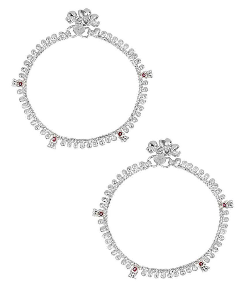 Jewel99 Silver German Silver Anklets