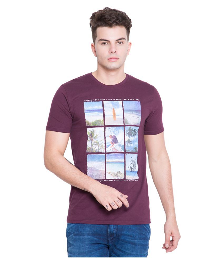 Locomotive Purple Round T-Shirt