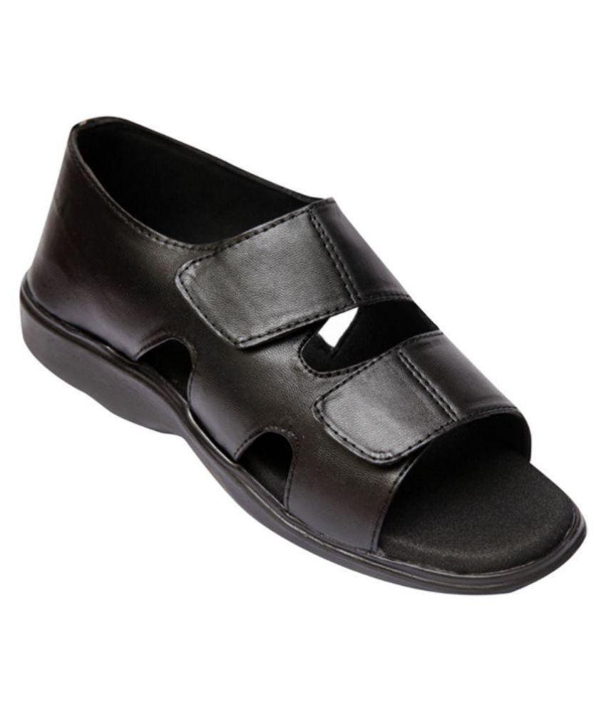 Healthsole M01102BL Black Sandals