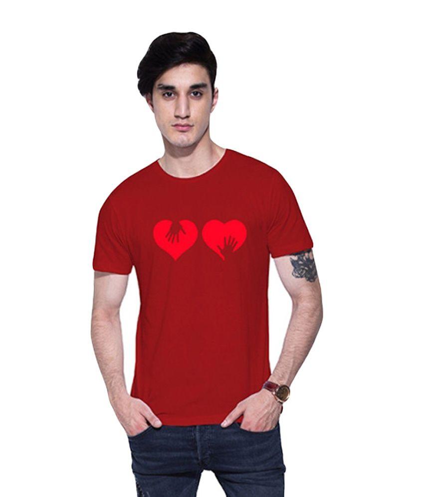 Uptown18 Red Round T-Shirt