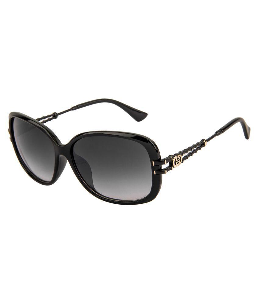 Voyage Black Oversized Sunglasses ( 1111MG1465 )