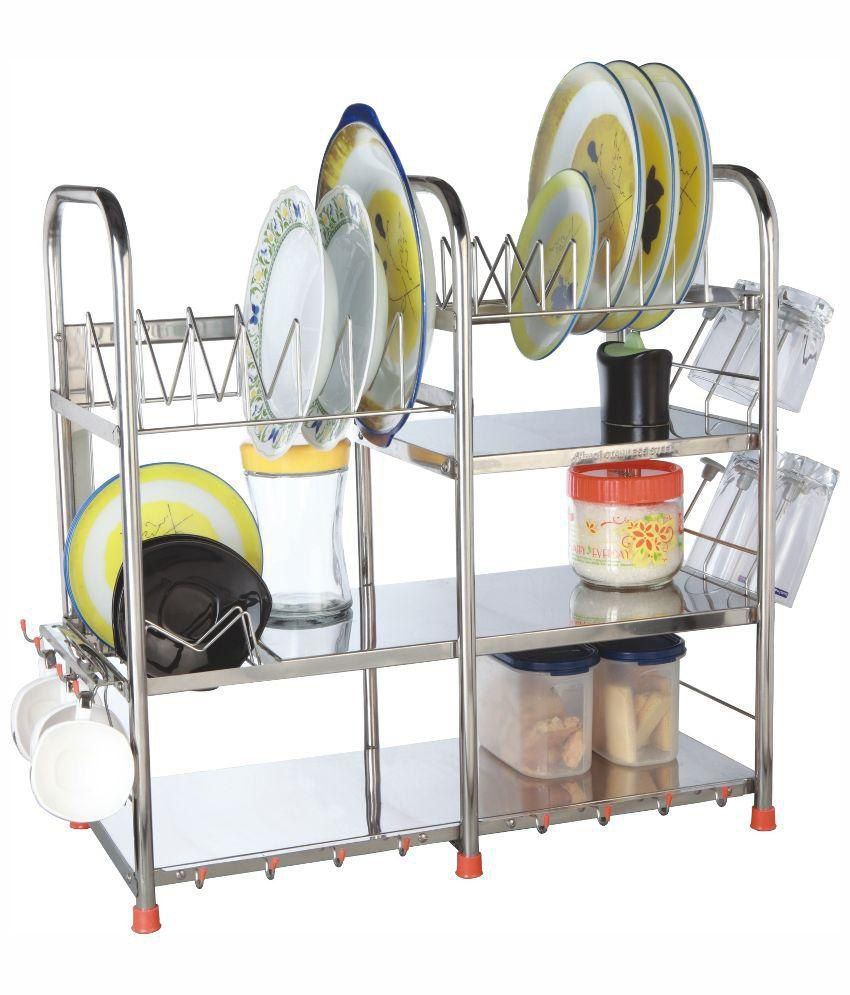 Buy Amol Stainless Steel Utensils Rack Online At Low Price In India Snapdeal