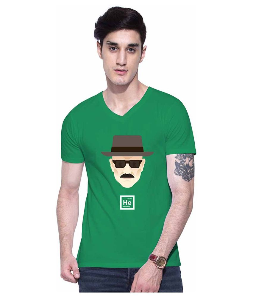 Uptown 18 Green V-Neck T-Shirt