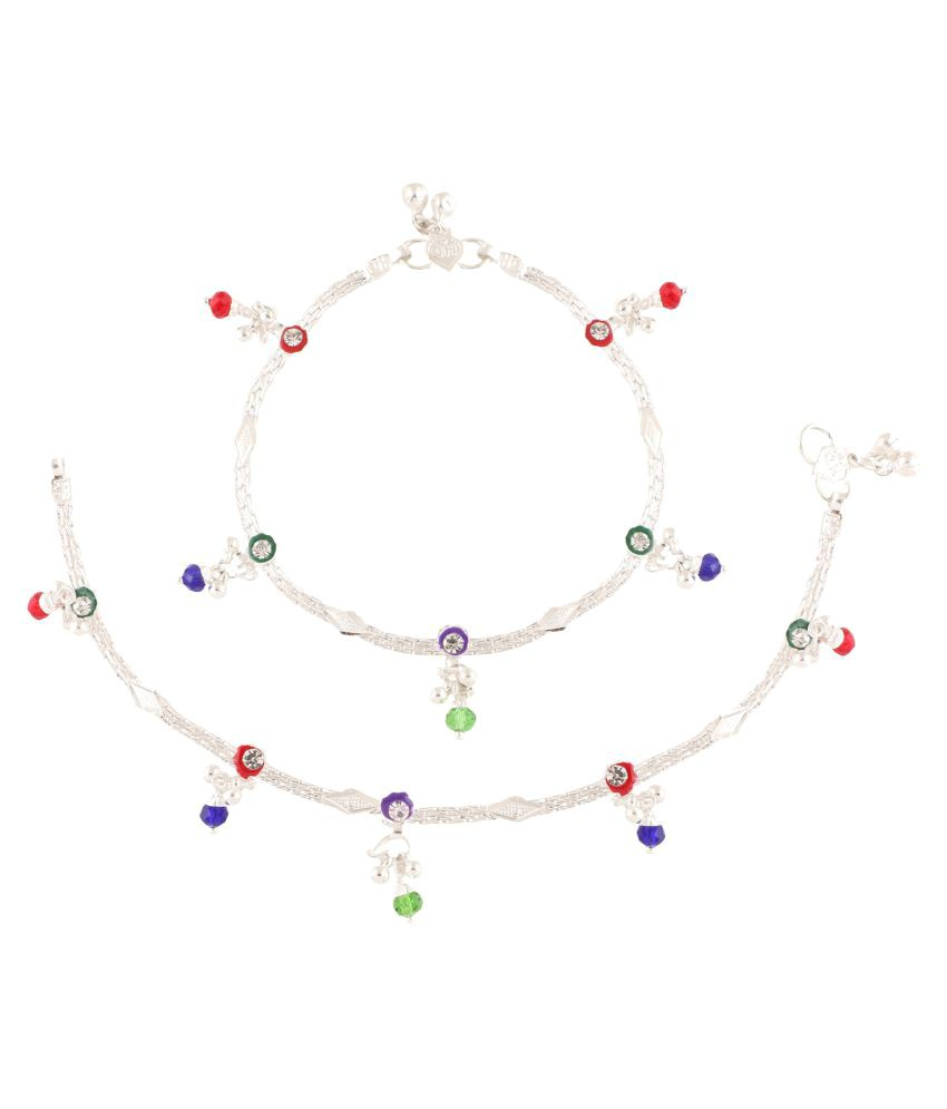 Fashionaya Multicolour  Alloy Anklet