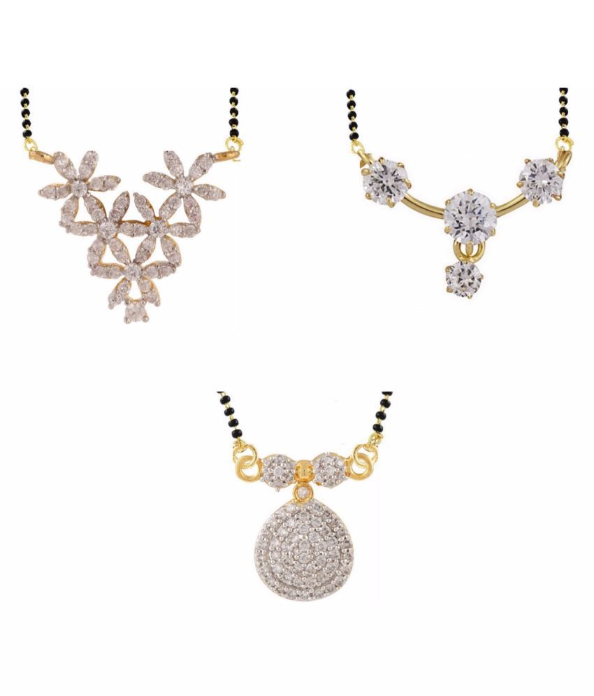 Archi Collection Multicolor Mangalsutra - Pack of 3