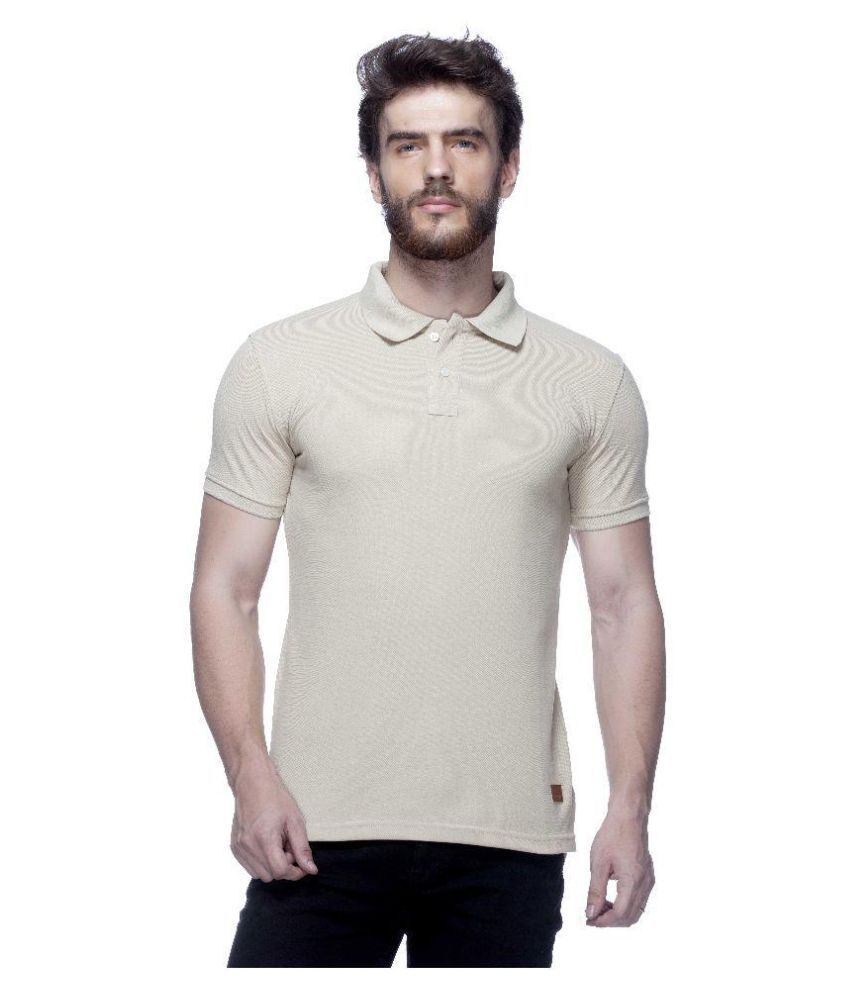 Tinted Cream Cotton Blend Polo T-Shirt Single Pack