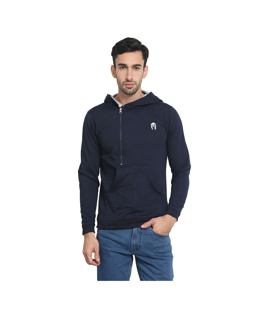 Zsolt Navy Hooded T-Shirt