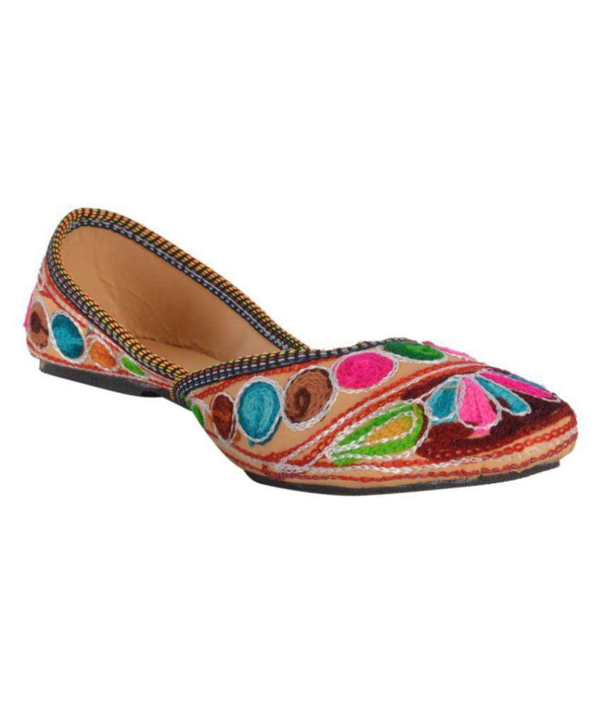 DFR Multi Color Flat Ethnic Footwear