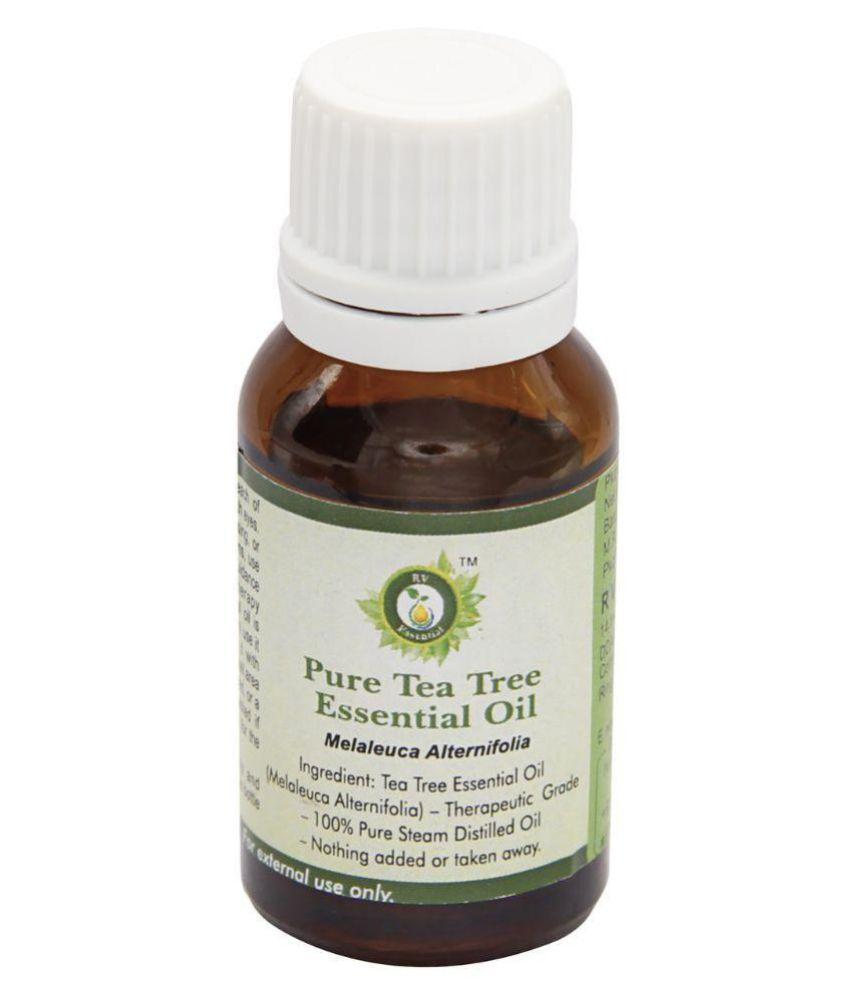 R V Essential Pure Tea Tree Essential Oil 15ml- Melaleuca Alternifolia