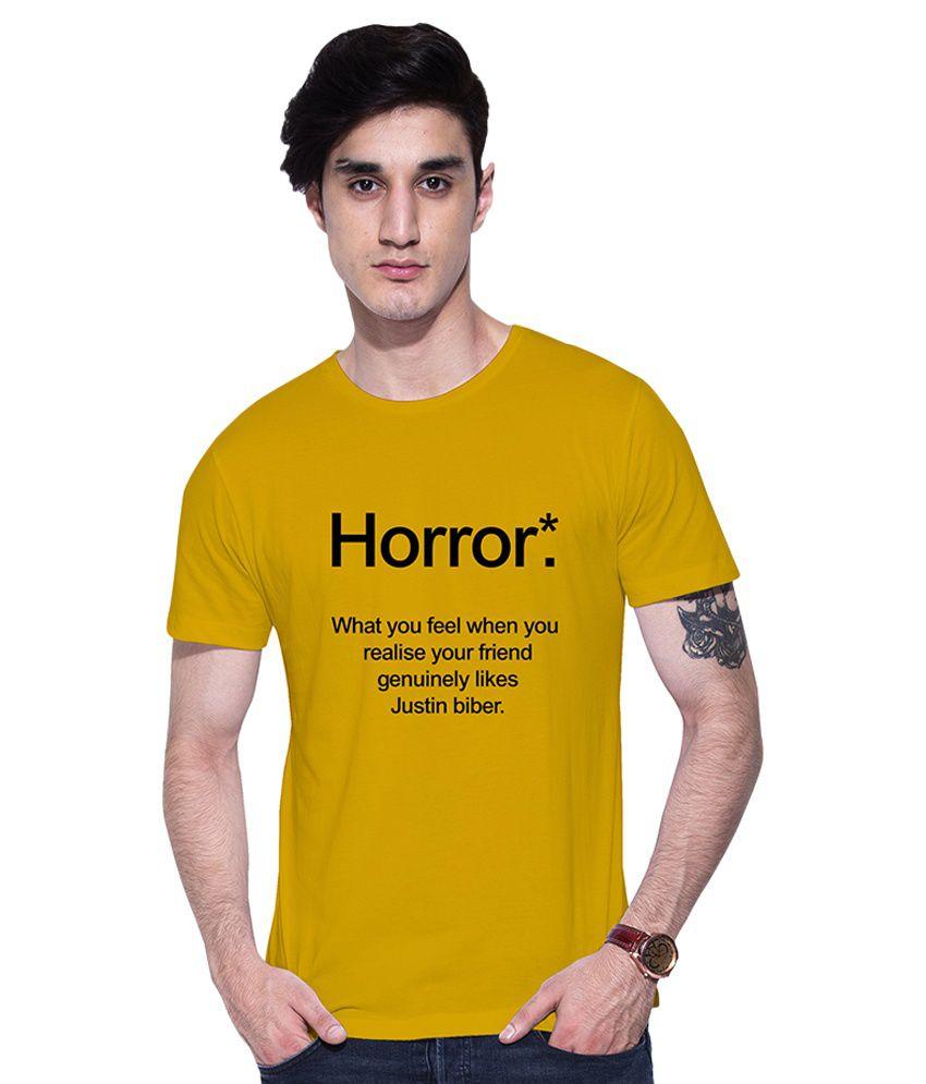 Uptown18 Yellow Round T-Shirt