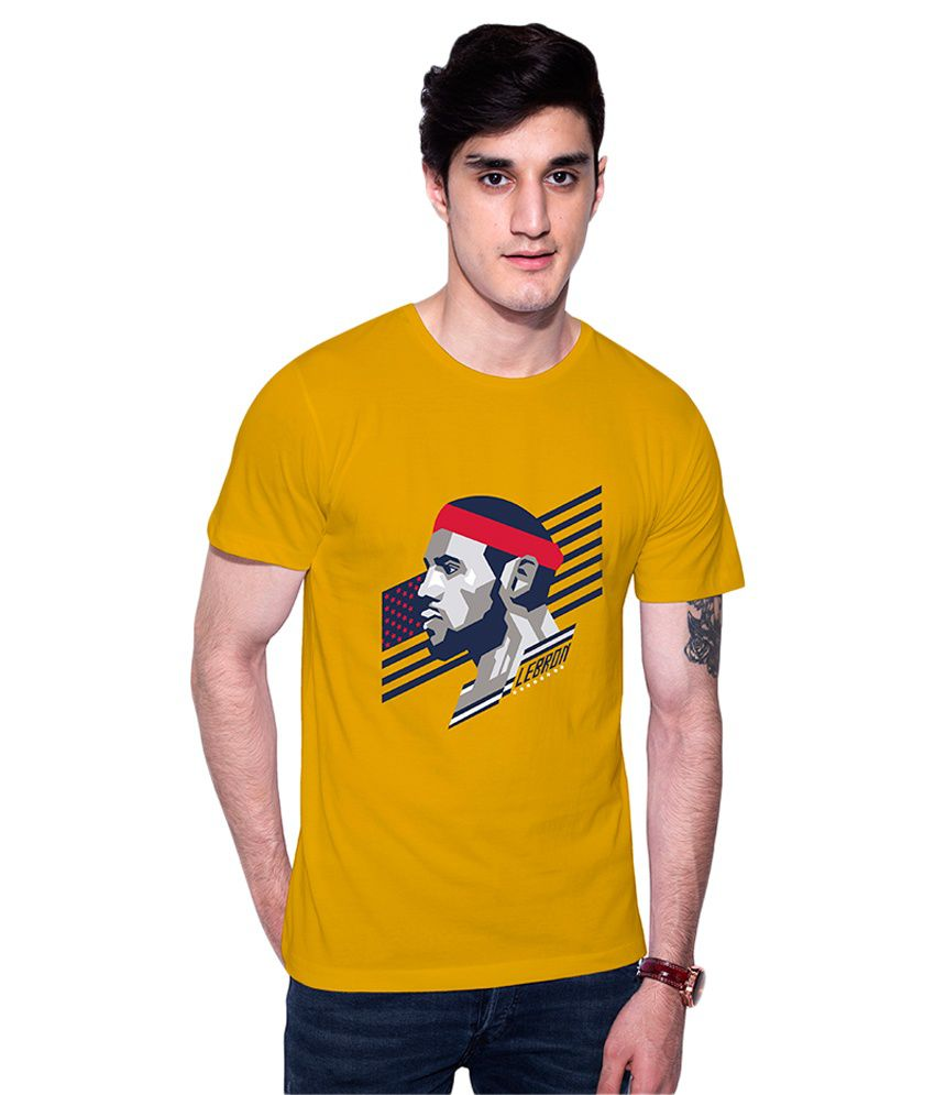 uptown18 Yellow Round T-Shirt