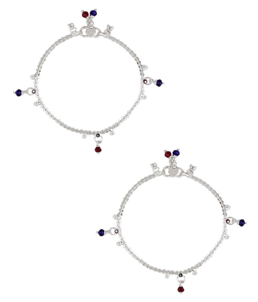 Jewel99 Silver German Silver Anklets