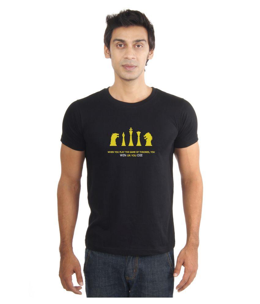 La Game of Thrones Black Round T-Shirt