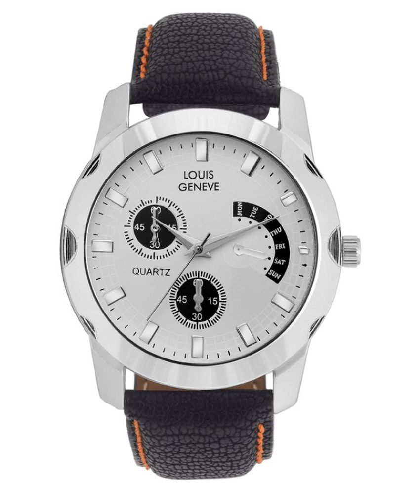 Louis Geneve Black Analog Watch