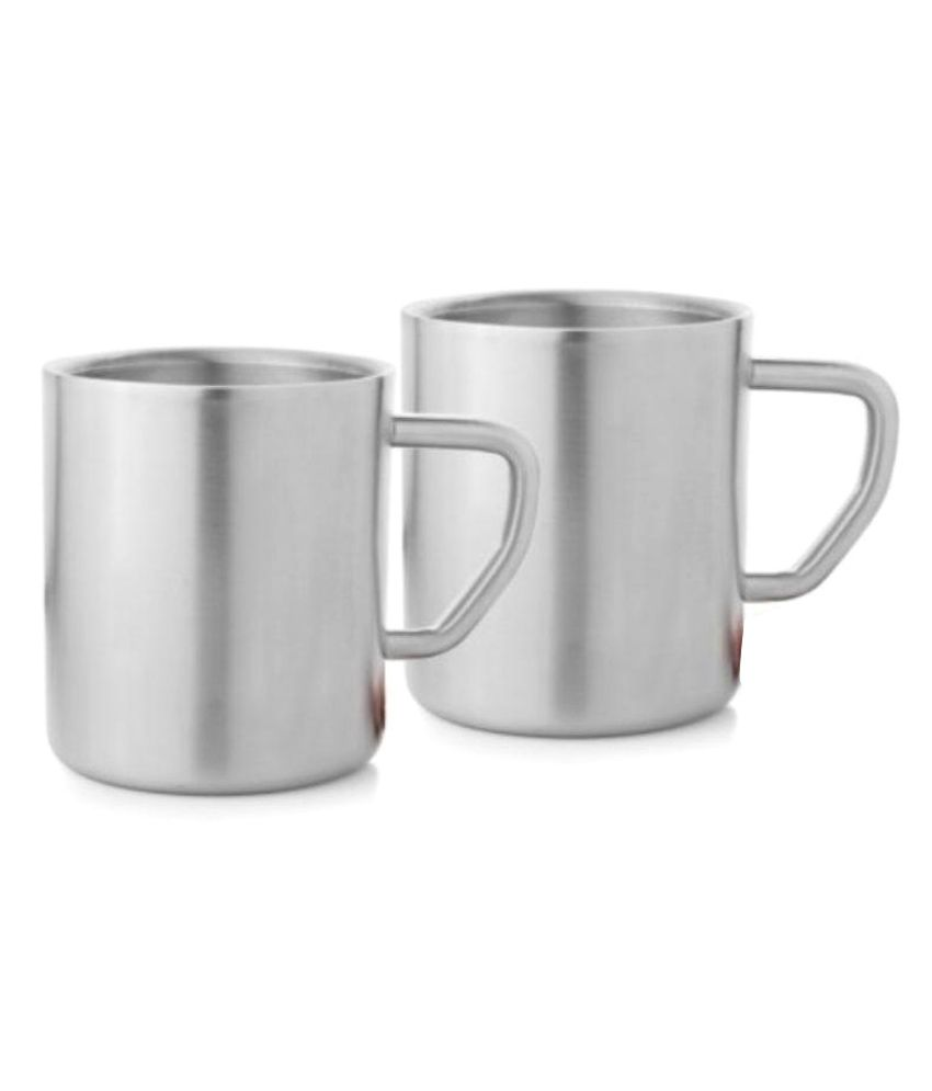 Mosaic Steel Coffee Mug 2 Pcs 200 Ml