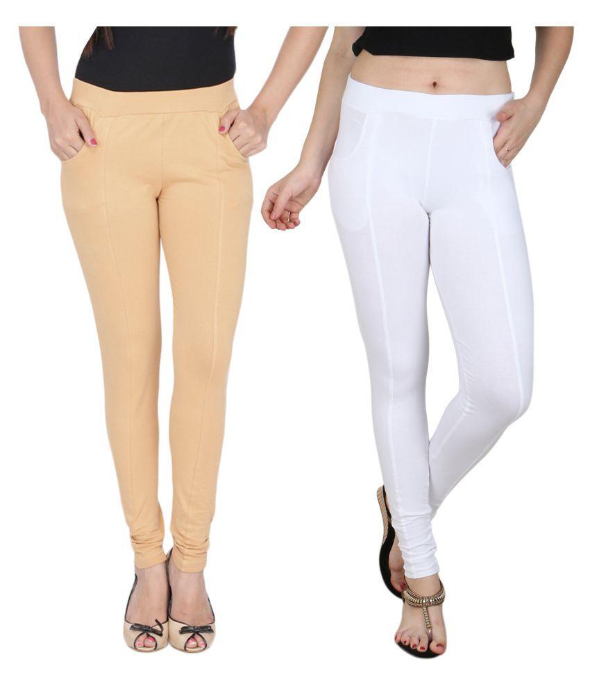 Baremoda Multi Color Cotton Lycra Jeggings