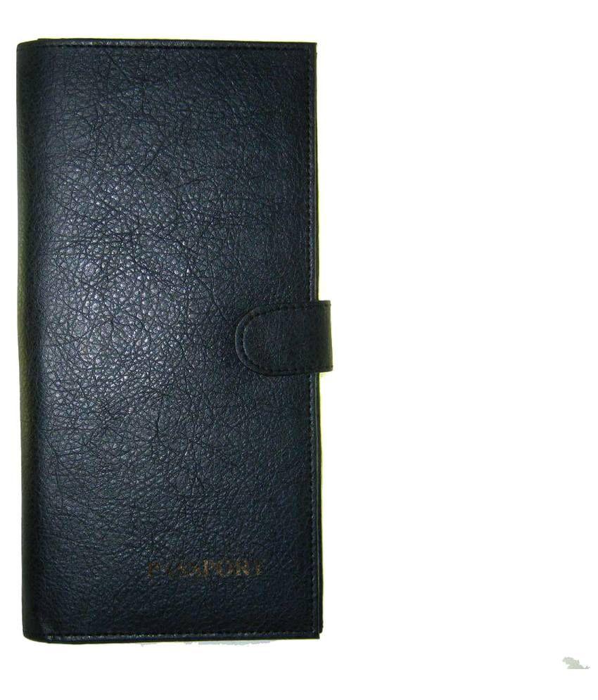 Goodluck Leather Black Passport Holder