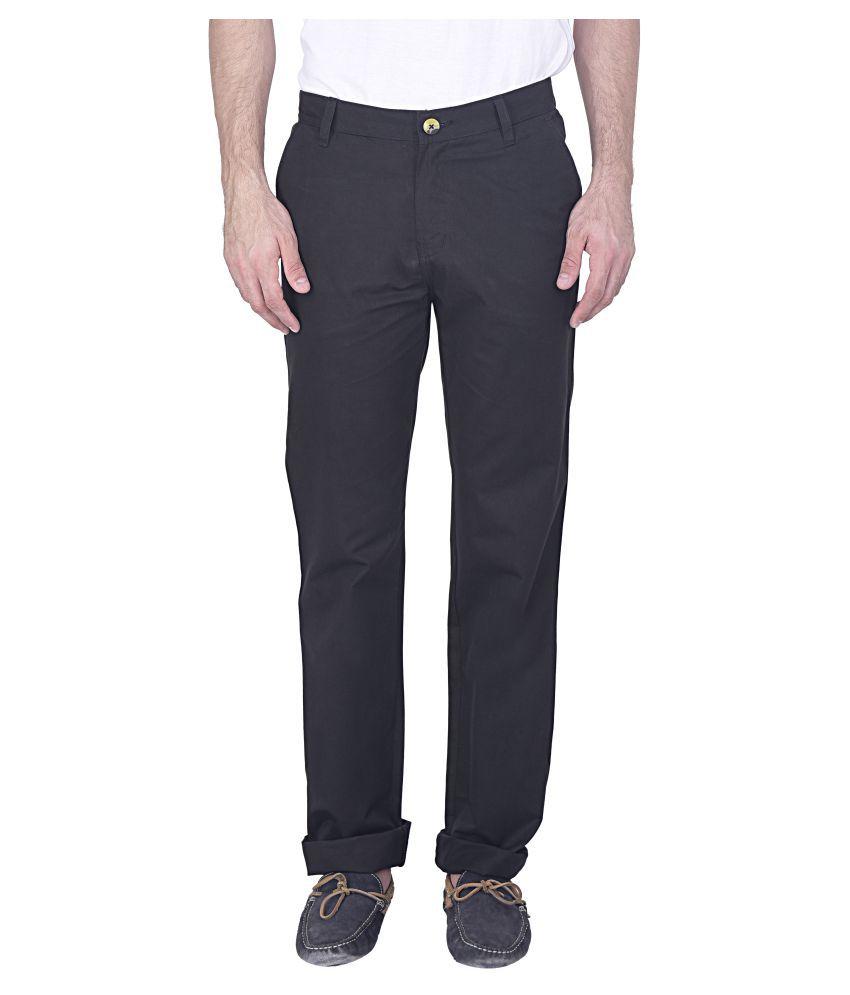 Blimey Black Regular Flat Trouser