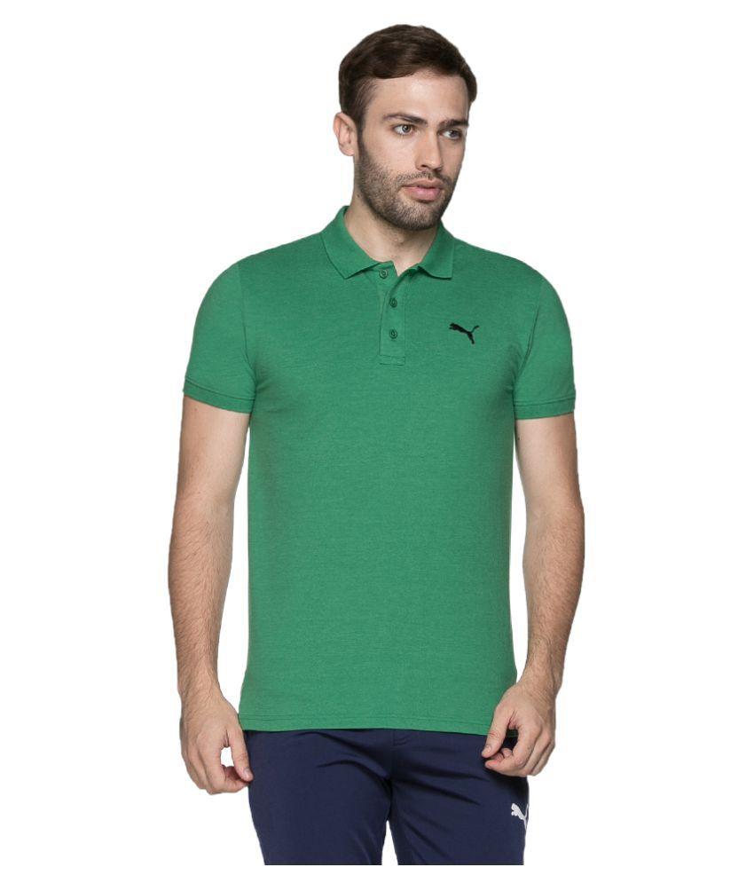 Puma Green Slim Fit Polo T Shirt