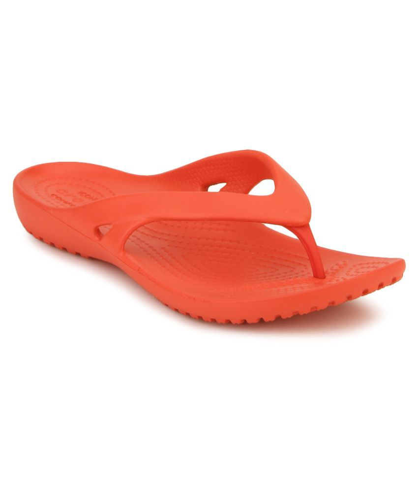 Crocs Red Slippers & Flip Flops Relaxed Fit