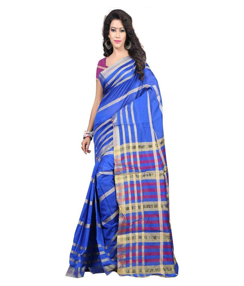 Ganga Shree Blue Art Silk Saree