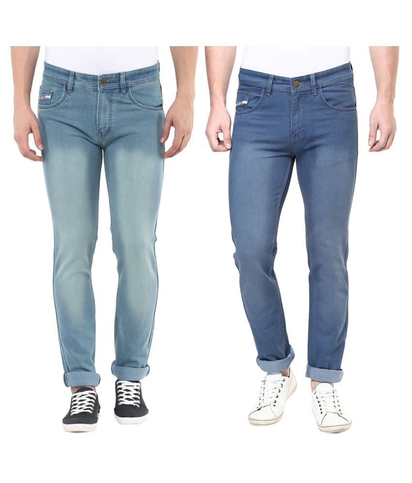Stylox Multicolored Slim Washed