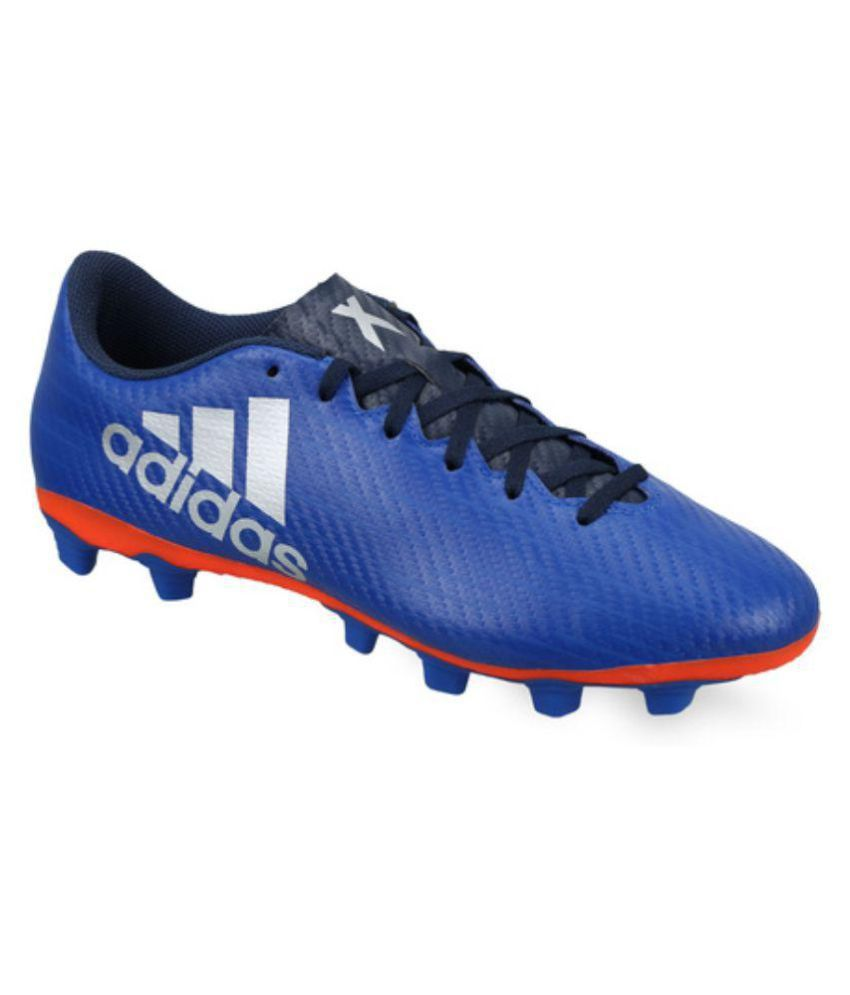 reputable site 8350e eb478 Adidas X 16.4 FXG Blue Football Shoes - Buy Adidas X 16.4 FXG Blue Football  Shoes Online at Best Prices in India on Snapdeal