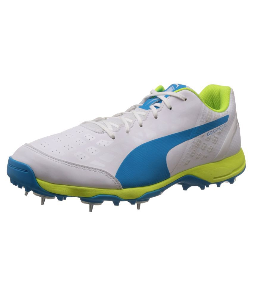 6ba82df2677 Puma Puma evoSPEED Cricket Spike 1.4 White Cricket Shoes