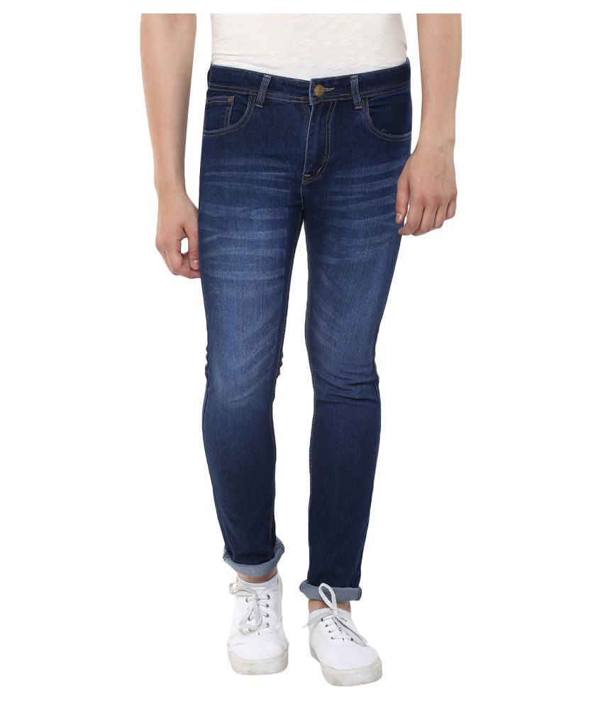 Stylox Dark Blue Skinny Washed
