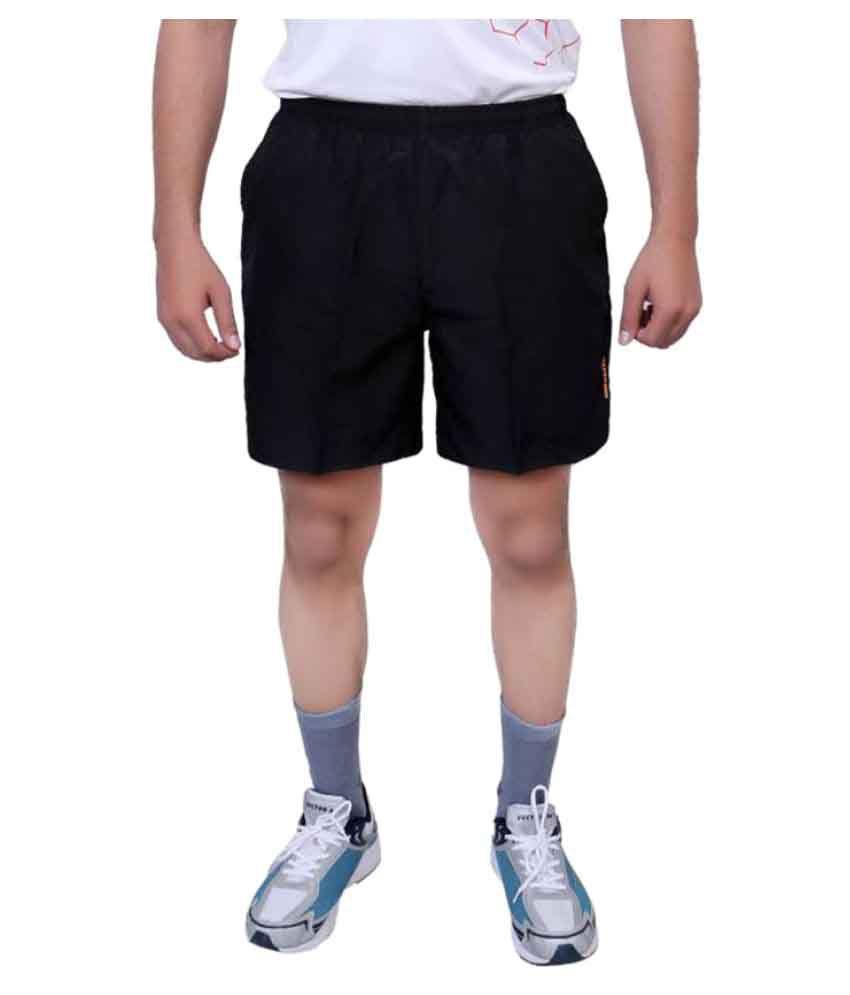Vector X Black Polyester Shorts
