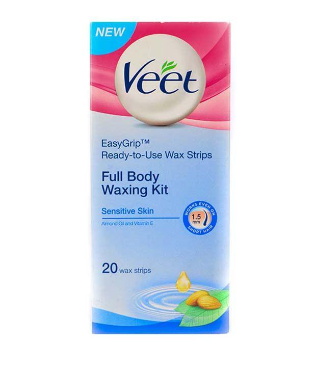Veet Sensitive Skin Full Body Waxing Kit 20 Strips Buy
