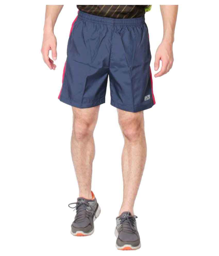 Vector X Navy Polyester Shorts