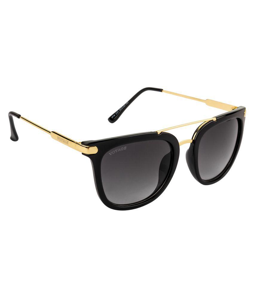 Voyage Black Wayfarer Sunglasses ( 1714MG1403 )
