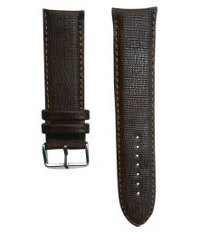 Flux Brown Leather Watch Strap