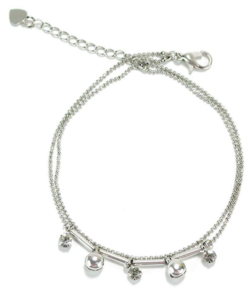 Archies Silver Alloy Anklets