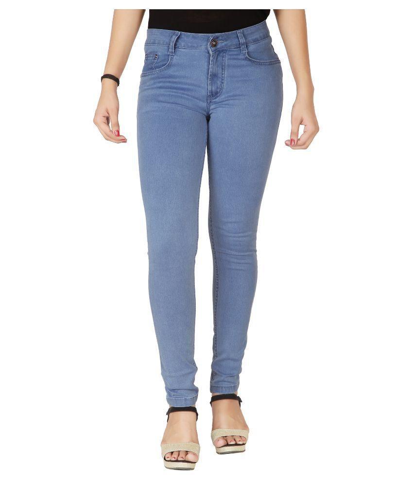 Flirt Nx Light Blue Denim Lycra Jeans