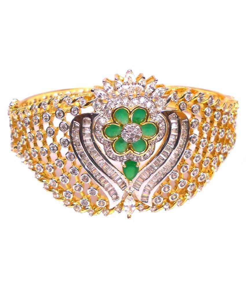 Rejewel Gold Plated American Diamond Bracelet For Women