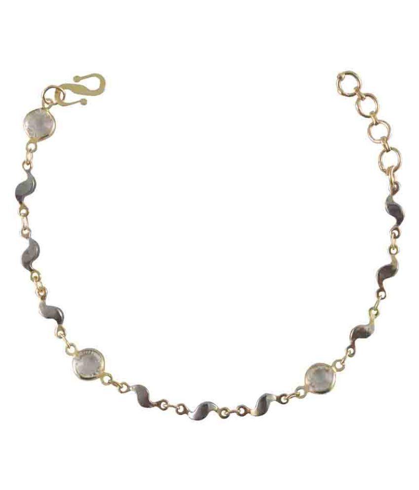 Rejewel Gold Plated Bracelet For Women